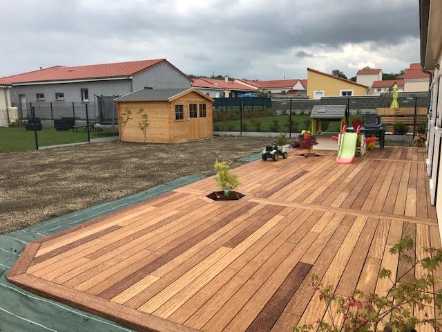 Terrasse Cumaru bois exotique